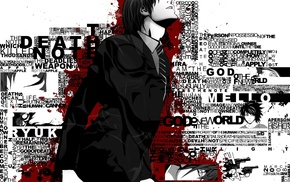 anime, typography, Death Note, Light Yagami