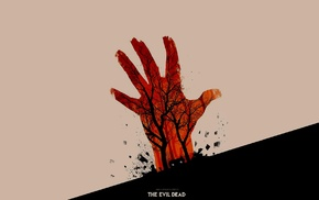 The Evil Dead, artwork, movies, Olly Moss, minimalism