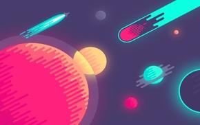 minimalism, asteroid, space