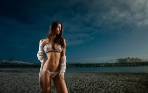 filter, beach, bikini, sea, model, girl