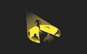 running, Pacman, minimalism