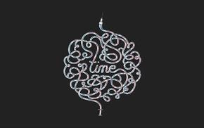 typography, syringe, simple background, time, minimalism, Creative Design