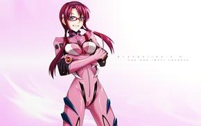 pink background, Makinami Mari Illustrious, blue eyes, pink, anime girls, twintails