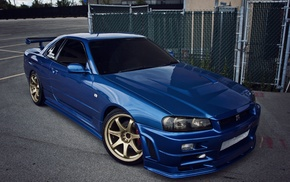 blue cars, Nissan, JDM, Stanceworks, Japan, StanceNation
