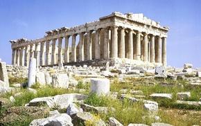 Parthenon, building, ancient, Greece