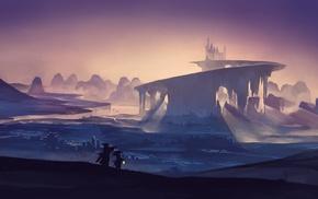 fantasy art, castle