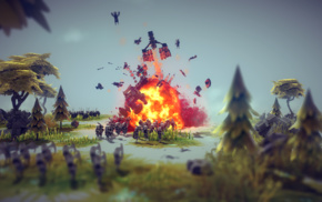 Besiege, explosion, video games