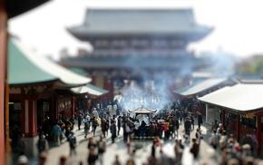 building, Asakusa, tilt shift, old building, architecture, Asian architecture