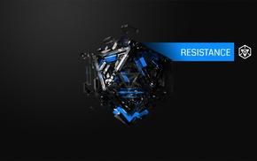 Resistance, blue, Justin Maller, hexagon, Ingress