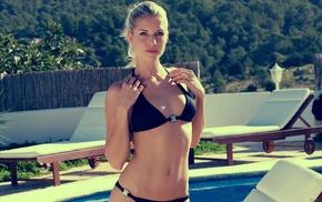 Iveta Vale, bikini, blonde, blue eyes