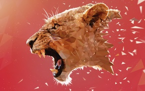 artwork, digital art, low poly, Adobe Illustrator, geometry, animals