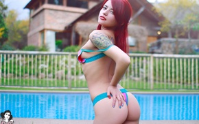 Suicide Girls, tattoo, Ness Suicide, girl, redhead
