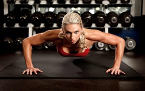 sports, blonde, working out, bodybuilding