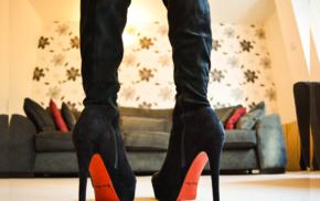 heels, boots, knee, high boots, girl