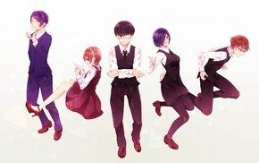 Kirishima Touka, Tsukiyama Shuu, Tokyo Ghoul, Fueguchi Hinami, Kaneki Ken, Nishio Nishiki