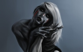 fantasy art, zombies, girl