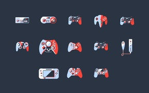 PlayStation, Xbox, Dreamcast, GameCube, video games, simple background