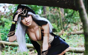 Ashe, cleavage, cosplay, League of Legends