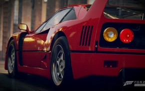 Forza Horizon 2, F40, Ferrari, red cars, car, vignette