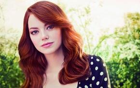 face, girl, celebrity, redhead, Emma Stone