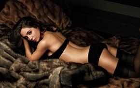 girl, ass, lingerie, Eliza Dushku, brunette