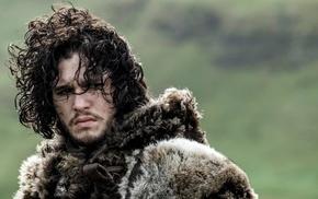 TV, curly hair, men, Game of Thrones, Jon Snow, actor