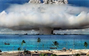 trees, nature, nuclear, water, bombs, Hawaii