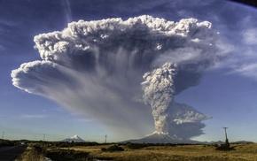 mountain, lava, field, Chile, nature, eruptions