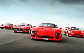 Ferrari F40, Ferrari F50, Ferrari, Ferrari Enzo, car, red cars