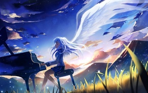 piano, Angel Beats, anime girls, anime, Tachibana Kanade, angel