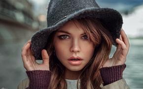 face, model, auburn hair, girl, portrait, Georgiy Chernyadyev
