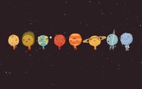 space, Mercury, minimalism, Sun, Earth, Venus