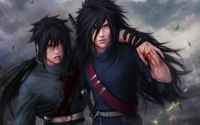 Uchiha Madara, digital art, anime, Naruto Shippuuden