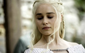 girl, Emilia Clarke, blonde, Game of Thrones, Daenerys Targaryen