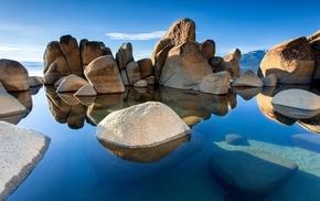stones, landscape, nature
