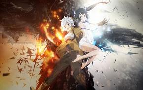 Bell Cranel, Hestia, anime, fire, Dungeon ni Deai wo Motomeru no ha Machigatteiru D, anime girls