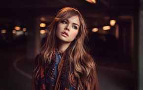 Anastasia Scheglova, long hair, juicy lips, model, Georgiy Chernyadyev, redhead