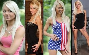 Annely Gerritsen, green eyes, girl, pornstar, blonde, collage