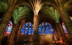 window, painting, arch, religion, Gothic, architecture