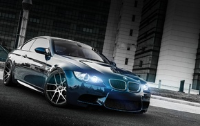 BMW, car, blue cars, blue, BMW E92 M3