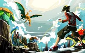 Pokemon, Charizard, Venusaur, Snorlax, Typhlosion, Red character