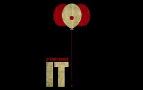 clowns, artwork, Stephen King, minimalism, It movie, movies