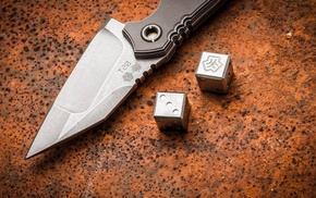 knife, dice