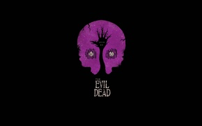 movies, simple, minimalism, black, artwork, Evil Dead
