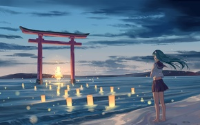 Moriya Suwako, ghosts, Touhou, lights, Kochiya Sanae