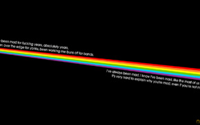 Pink Floyd, dark, Dark Side Of The Moon, rainbows, quote, minimalism