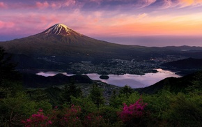 Mount Fuji, mountain, landscape, Japan, nature