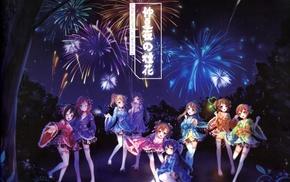 Toujou Nozomi, Kousaka Honoka, Minami Kotori, anime girls, Nishikino Maki, Sonoda Umi
