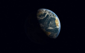 Earth, universe, 3D, digital art, Cinema 4D