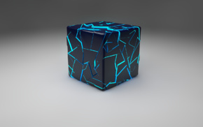 cube, Cinema 4D, digital art, 3D